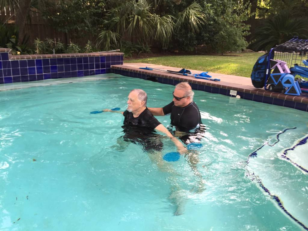 Aqua Weights in Salt Water Pool Houston