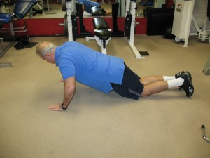 Off Knees Pushup 2)